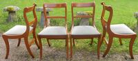 SOLD - Set of Four Regency Style Yew Dining Chairs